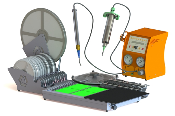 Manual SMT pick & place system for prototyping